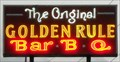 Image for Neon Sign at Golden Rule BBQ in Hoover, AL