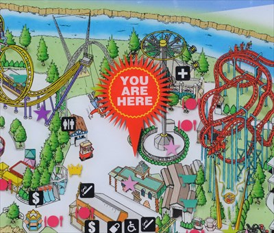 Elitch Gardens Dragonwing - 'You Are Here' Maps on