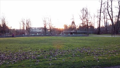 View of Alton Baker Park from bench