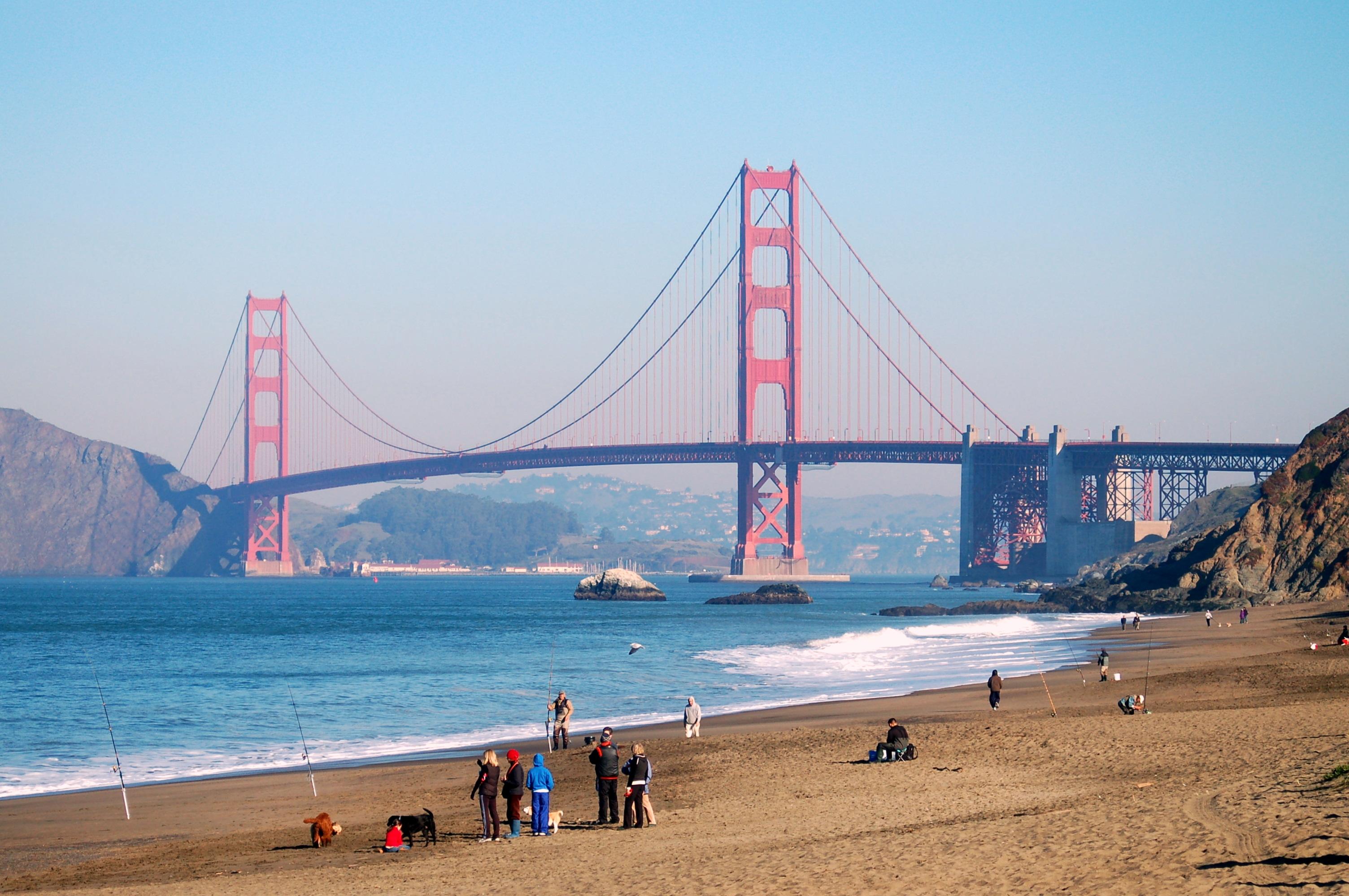 Baker Beach, San Francisco stock photo. Image of sand