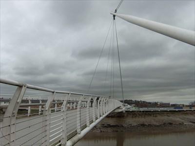 Newport City footbridge, Wales.