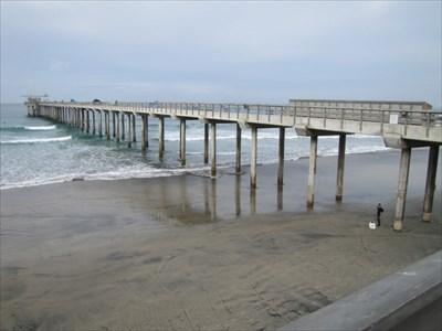 Scripps Pier from the Left, La Jolla, CA