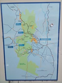 The Snowy Mountains Scheme map. Showing you are between Cabramurra and Khancoban. 0808, Monday, 31 December, 2018