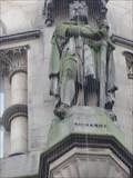Image for Monarchs – King Richard I of England on side of city hall - Bradford, UK