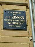 Image for J.A. Zinnen Memorial Plaque