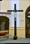 Image for Cross at Church of the Assumption of the Virgin Mary / Kríž u kostela Nanebevzetí Panny Marie - Vranov nad Dyjí (South Moravia)
