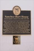 Image for Sanchez-Burt House-Second Spanish Colonial Period, Built 1816-1829