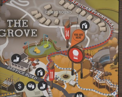 San Diego Zoo Safari Park ~ The Grove - 'You Are Here' Maps