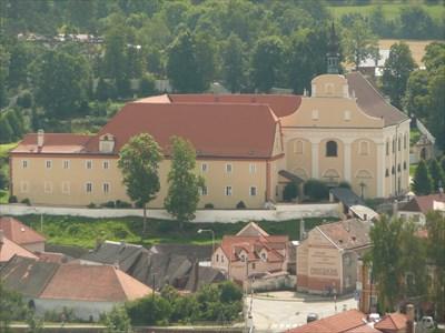 Pohled z věže kostela sv. Vavřince.
