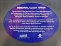 Image for Memorial Clock Tower 'Blue Plaque' - Bright, Victoria, Australia