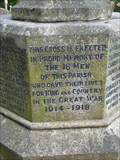 Image for WWI Memorial, St Lawrence Church, Lindridge, Worcestershire, England