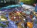 Image for Aquatic themed mosaic covered Toyota Truck