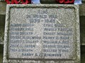 Image for WW2 Plaque, Grenoside War Memorial, Sheffield, UK.