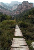 Image for Touristic boardwalks in Zhangshiyan Scenic Area at Shirenzhai village (Hebei, China)