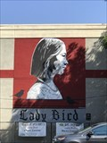 Image for See midtown 'Lady Bird' mural go up in 40 seconds