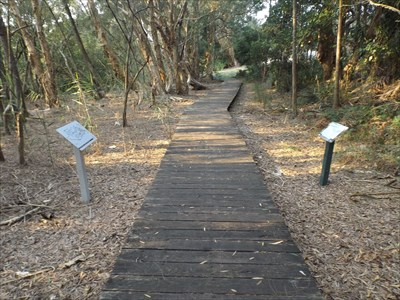 The location of this map for the boardwalk around the Kooloonbung Creek Nature Park. 1727, Sunday, 12 February, 2017