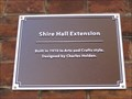 Image for Shire Hall Extension Plaque - St Paul's Square, Bedford, Bedfordshire, UK