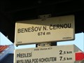 Image for Elevation Sign  - Benešov nad Cernou.674m
