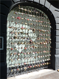 Image for Love padlocks in window's grid - Buenos Aires, Argentina