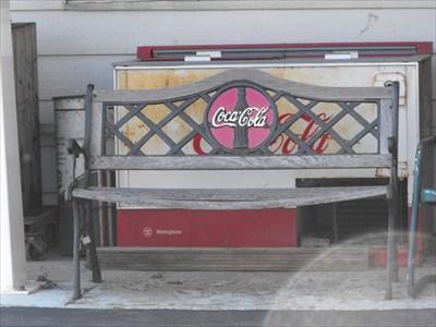 Coca Cola Signs Cooler And Bench Hazel Green Wi Coca Cola Memorabilia On