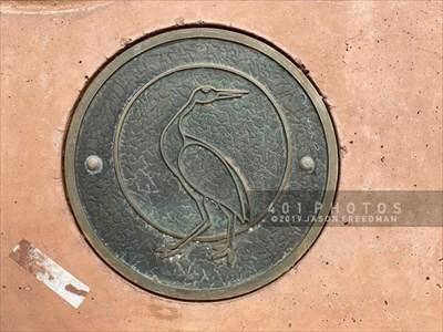 Sandhill Crane medallion detail