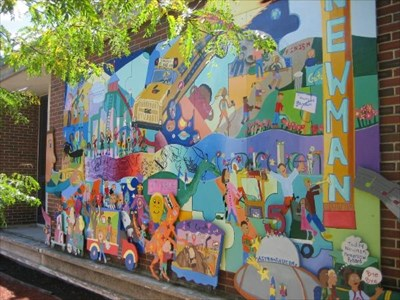 Newman parade needham ma murals on for Needham high school craft fair