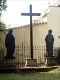 Image for Kríž pred kostelem Zvestování Panny Marie a Ctrnácti sv. pomocníku  / Cross in front of the Church of the Annunciation and the Fourteen St. helpers, Kadan, Czechia
