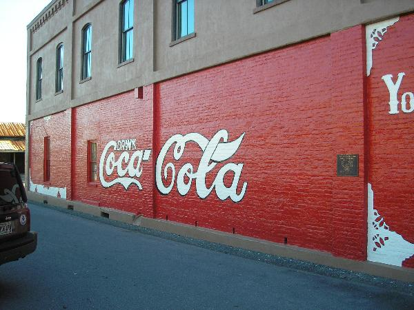 First painted wall sign to advertise Coca-Cola : Cartersville, GA ...