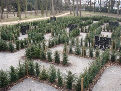 Hedge Maze in Loucen Chateau Park