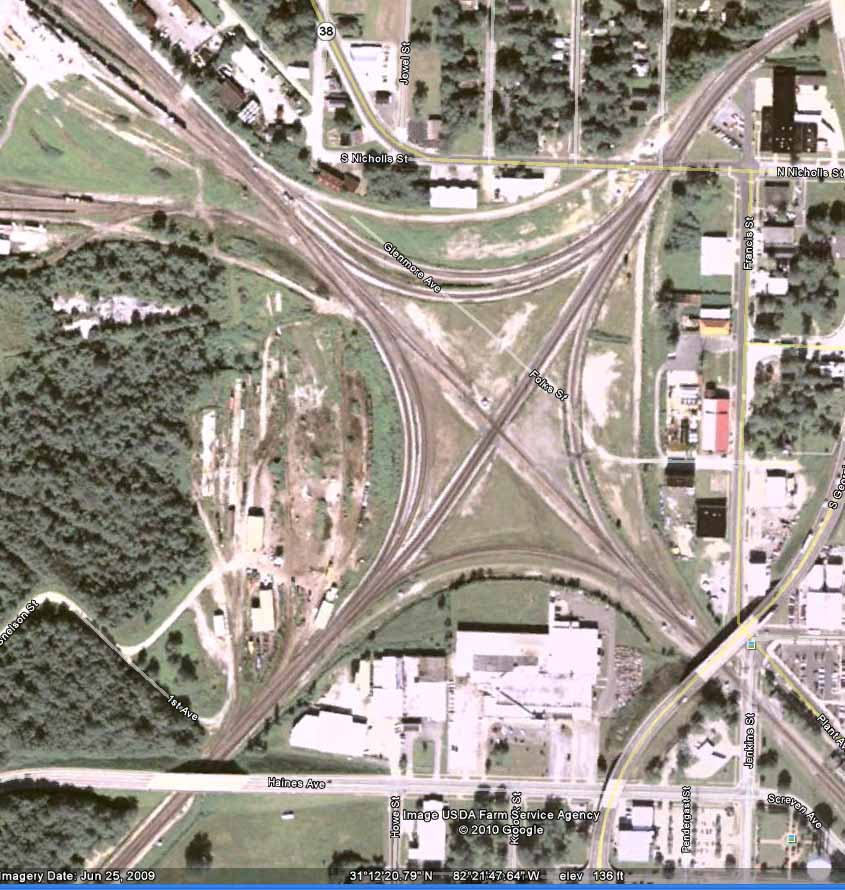 Waycross (GA) United States  City new picture : Haines Ave. Overpass, Waycross, GA Active Rail Locations on ...