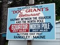 "Image for ""Doc"" Grant's Sign - Rangeley, Maine"