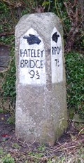 Image for Milestone - un-named private road, Ripley, Yorkshire, UK.