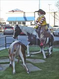 Image for Ronald McDonald roping a steer - Weatherford, TX
