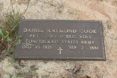 Daniel Cook, referenced on the historical marker.