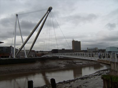 Newport City footbridge, Wales.