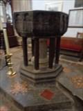 Image for Baptismal Font - Church of St Cuthburga - Wimborne Minster, Dorset, UK.