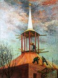 """Image for """"Laying The Copper Roof, St Michael's Church, Letchworth"""" by Robin Mackertich – St Michael's Church, Broadway, Letchworth, Herts, UK"""