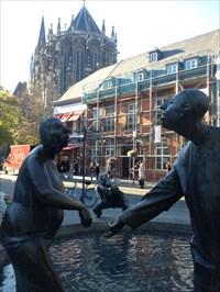 Brunnen Kreislauf des Geldes - Aachen, NRW, Germany