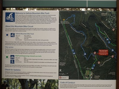 A couple of circuits for Mountain Biking in the Garigal National Park. 1845, Thursday, 2 February, 2017