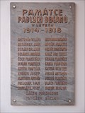 Image for Pametní deska obetem první svetové války - Brno, Czech Republic