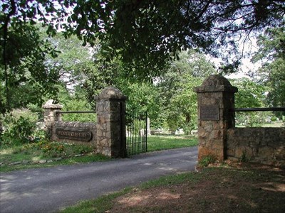 Main entrance to the Old Decatur Cemetery (located on Commerce Drive)