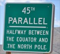 Image for 45th Parallel Sign ~ Salmon, Idaho