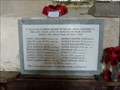 Image for WWI Memorial Plaque - St Margaret - Paston, Norfolk