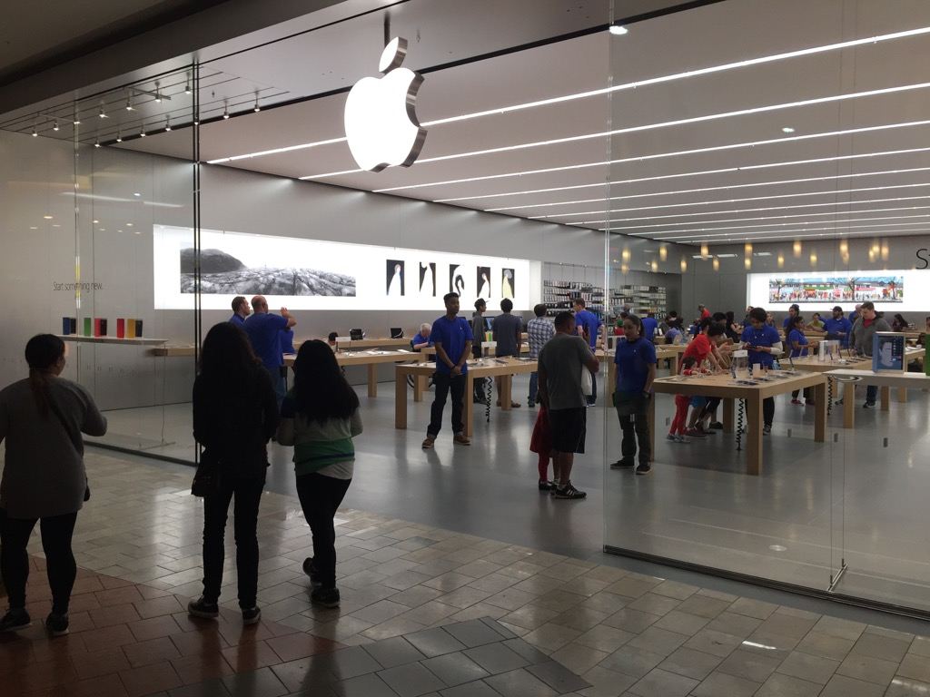 Apple Store Main Entrance viewed from the