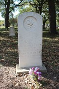 Image for OLDEST Recorded Grave in City Greenwood Cemetery - Weatherford, TX
