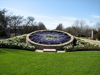 Botanic Garden Floral Clock - Fort Worth, TX - Town Clocks on ...