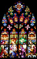 Image for Barcelona Cathedral Stained Glass Windows - Barcelona, Spain