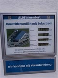 Image for Counting and measuring display Solaranlage Aldi Store - 88239 Wangen, BW, Germany