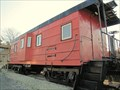 Image for Red, rib-sided caboose - Lake Villa, IL