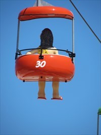 Sky Glider, Red Gondola, Santa Cruz, California